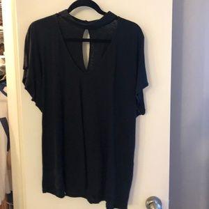 Velvet Keyhole tshirt (size XL)